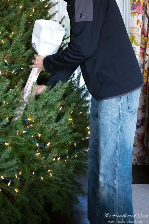 Easy DIY Christmas Tree Watering Funnel - A Quick & Inexpensive DIY That Will Save Your Back This Holiday Season!