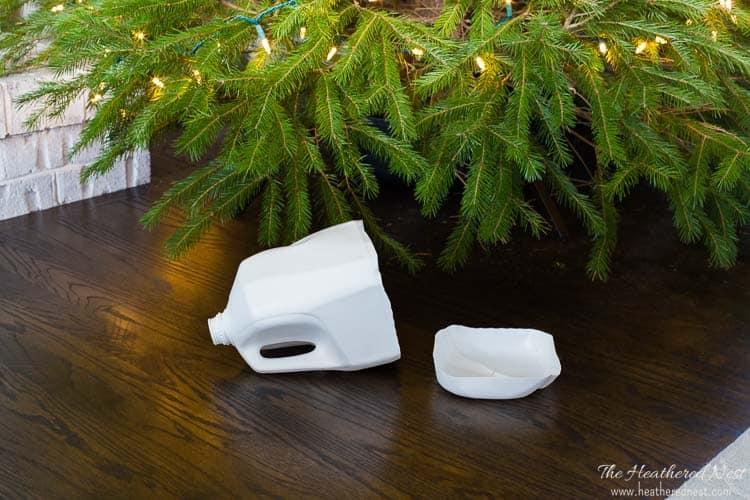 WHY DIDN'T I THINK OF THIS?! Easy DIY tool prevents breaking your back to water the Christmas tree! Best holiday tool ever!! from heatherednest.com