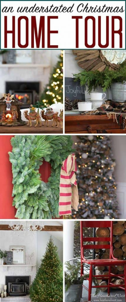 A #colorful #Christmas understated holiday home tour...beautiful and simple! #holidaydecorating #holidayhometour #hometour #christmasdecor