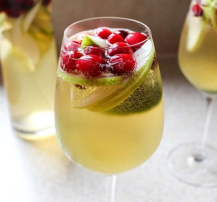Holiday sangria! Yes! Love this NYE cocktail idea.