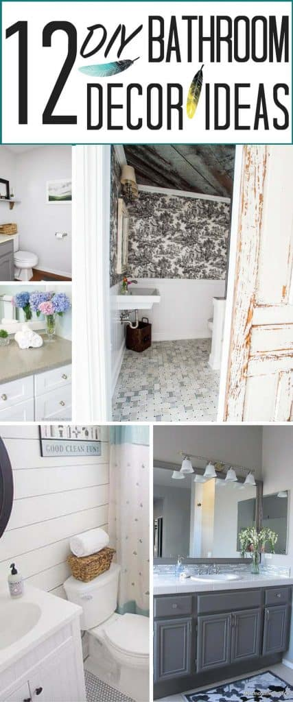 12 popular DIY bathroom decor ideas from heatherednest.com