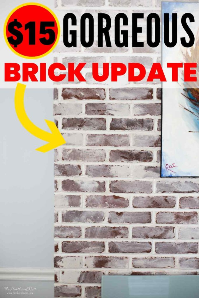 before and after of german smear on brick fireplace