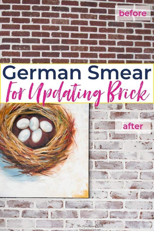 German Smear Diy Whitewash Brick Technique The Heathered Nest
