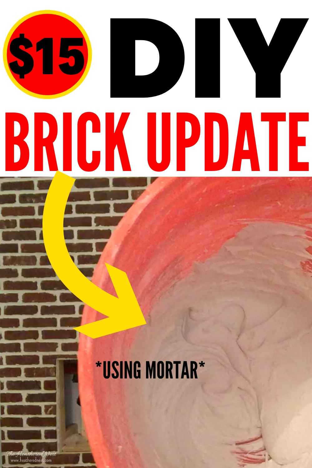 This Brick Update Idea Costs LESS THAN Paint! Check out this Easy, Inexpensive and BEAUTIFUL DIY Brick Update Idea (and Joanna Gaines approved!)