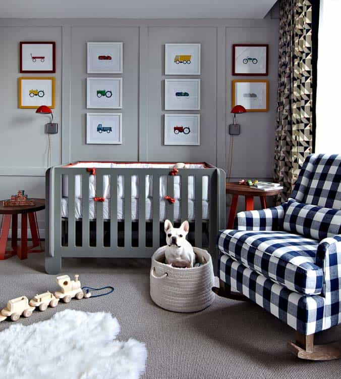 Another amazing pic from the boys room ideas list from Heathered Nest! Love this nursery gallery wall.