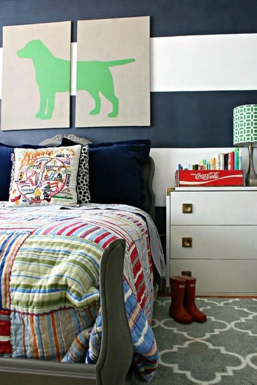 This preppy look for a boys room is so cute!