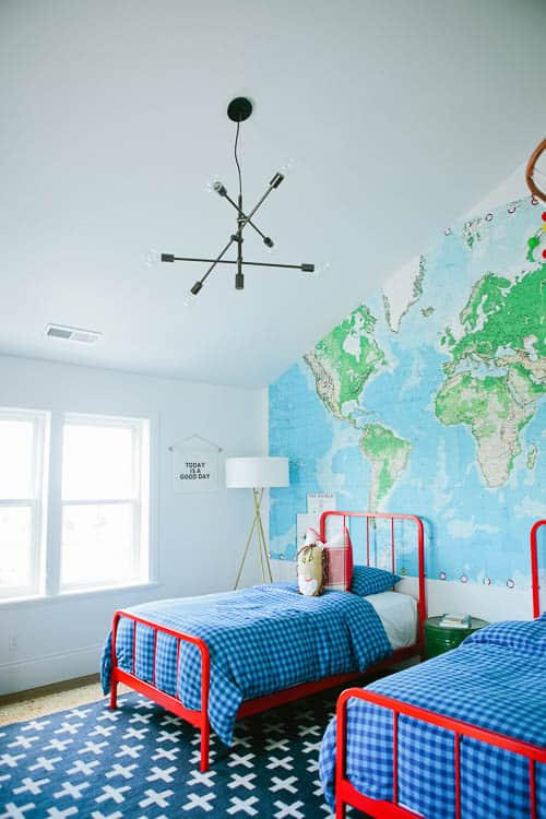 Every budding explorer would want this - boy or girl! Love this great one from a list of boy room ideas.