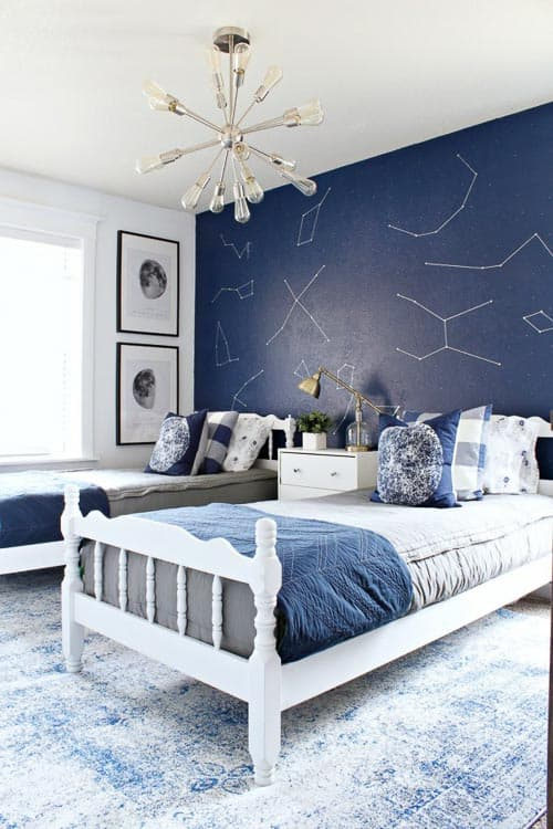 Can you believe this space themed little boys room idea? So beautiful, I'm jealous!
