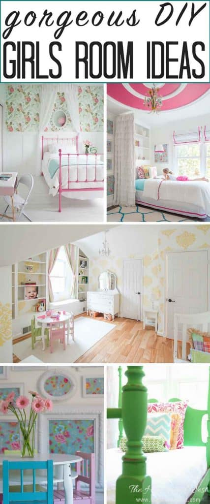 The most GORGEOUS girls room ideas on the internet! Every single one of these popular kids rooms is pin-worthy! from heatherednest.com