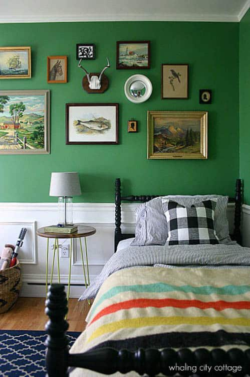 This post on boys room ideas is amazing - love the photo gallery and the rug in this one!
