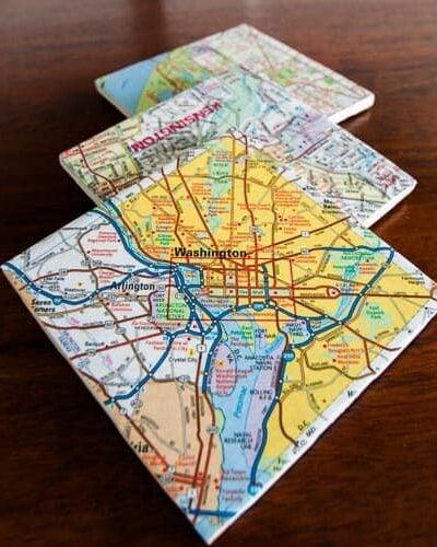 DIY custom coasters from maps