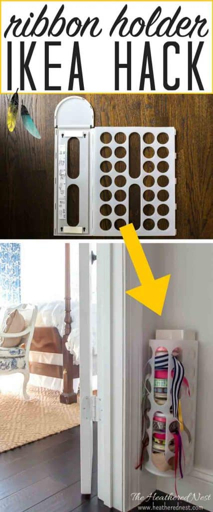 Diy ribbon holder ikea hack the heathered nest diy ribbon holder ikea hack easy quick made in minutes from an inexpensive solutioingenieria Image collections