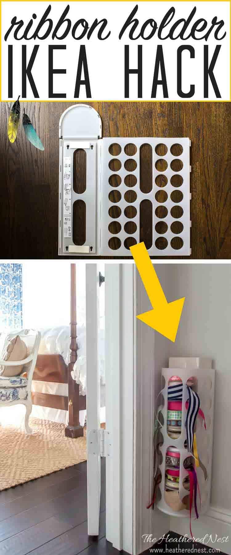 DIY ribbon holder Ikea hack! | The Heathered Nest