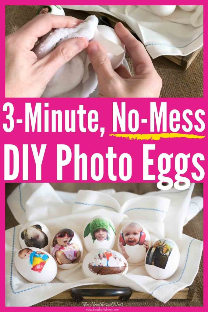 GENIUS & ❤️adorable 🐥-love these no-mess DIY easter eggs for kids! Pick and use your favorite family photos for this quick & easy DIY egg decorating idea! Done in 3-minutes, and you only need (1) supply! Great school or Sunday school #eastercraft idea! #eastereggideasforkids #nomesseastereggs #easyeastereggdecoratingideas #simpleeastereggideas #DIYeastereggdecoratingideas