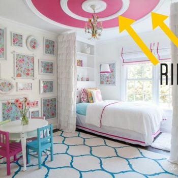 GREAT tutorial and ceiling design ideas!! How to install ceiling rings, or round ceiling molding for a high end look on a small budget! THIS IS GORGEOUS! I may try this DIY project :)