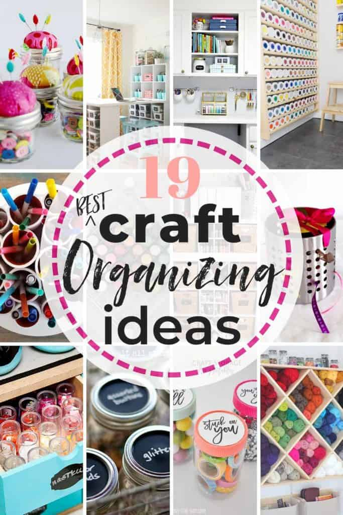 19 Best Creative Craft Storage Ideas! Get those crafting supplies organized in a flash with these great DIY organization hacks! #craft #crafting #craftstorageideas #craftorganizationideas #craftroomorganization #craftroomorganizationideas