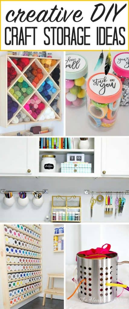 15 Best Creative Craft Storage Ideas! Get those crafting supplies organized in a flash with these great DIY organization hacks! #craft #crafting #craftstorageideas #craftorganizationideas #craftroomorganization #craftroomorganizationideas