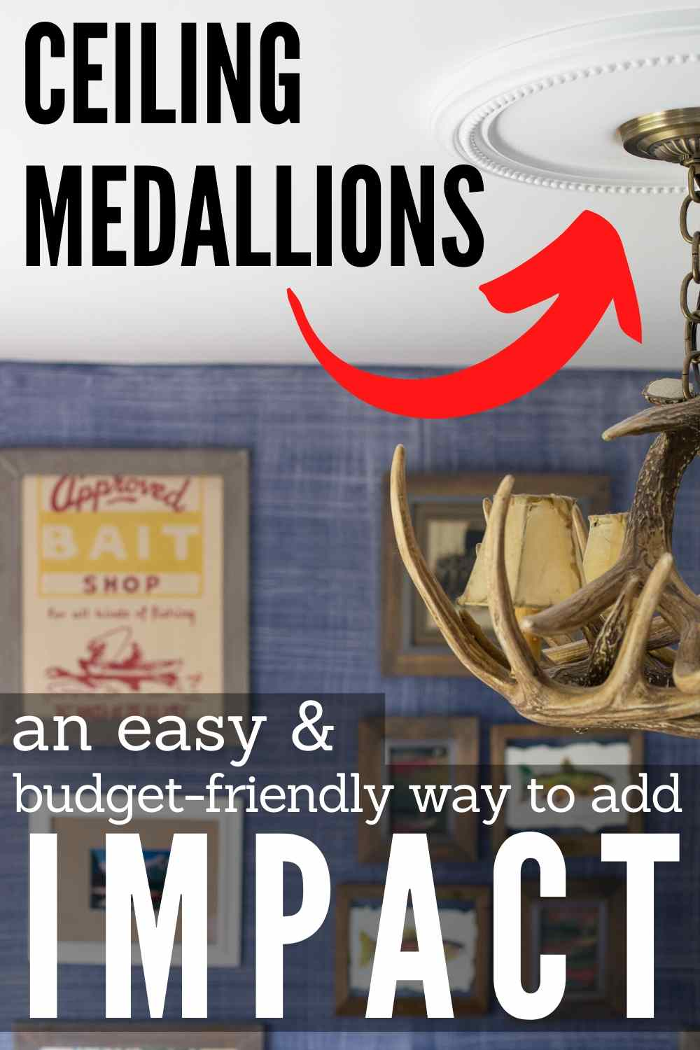 """ceiling medallions an easy & budget-friendly way to add impact"""