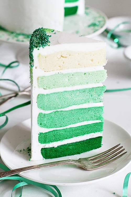 Um, ombre cake in green! St Patrick's Day will never be the same again!
