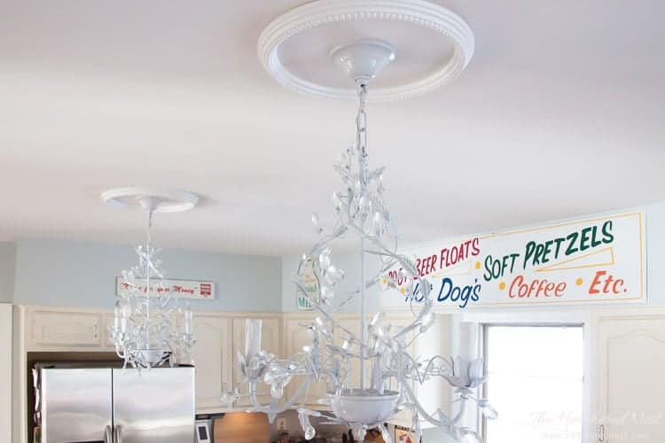 how to install large ceiling medallions   How to Install Ceiling Medallions   The Heathered Nest