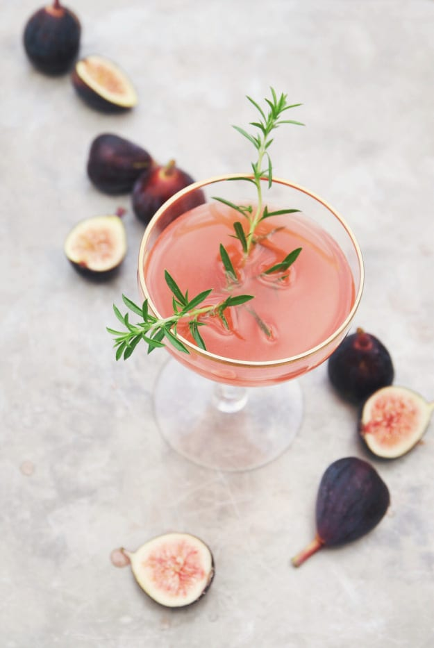 This looks beautiful and refreshing - with a delicate sprig of green thyme!