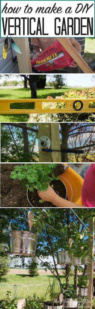 Vertical gardens are SUPER popular right now, and I can see why! LOVE this DIY idea...How to make a DIY vertical garden | vertical garden kit from heatherednest.com