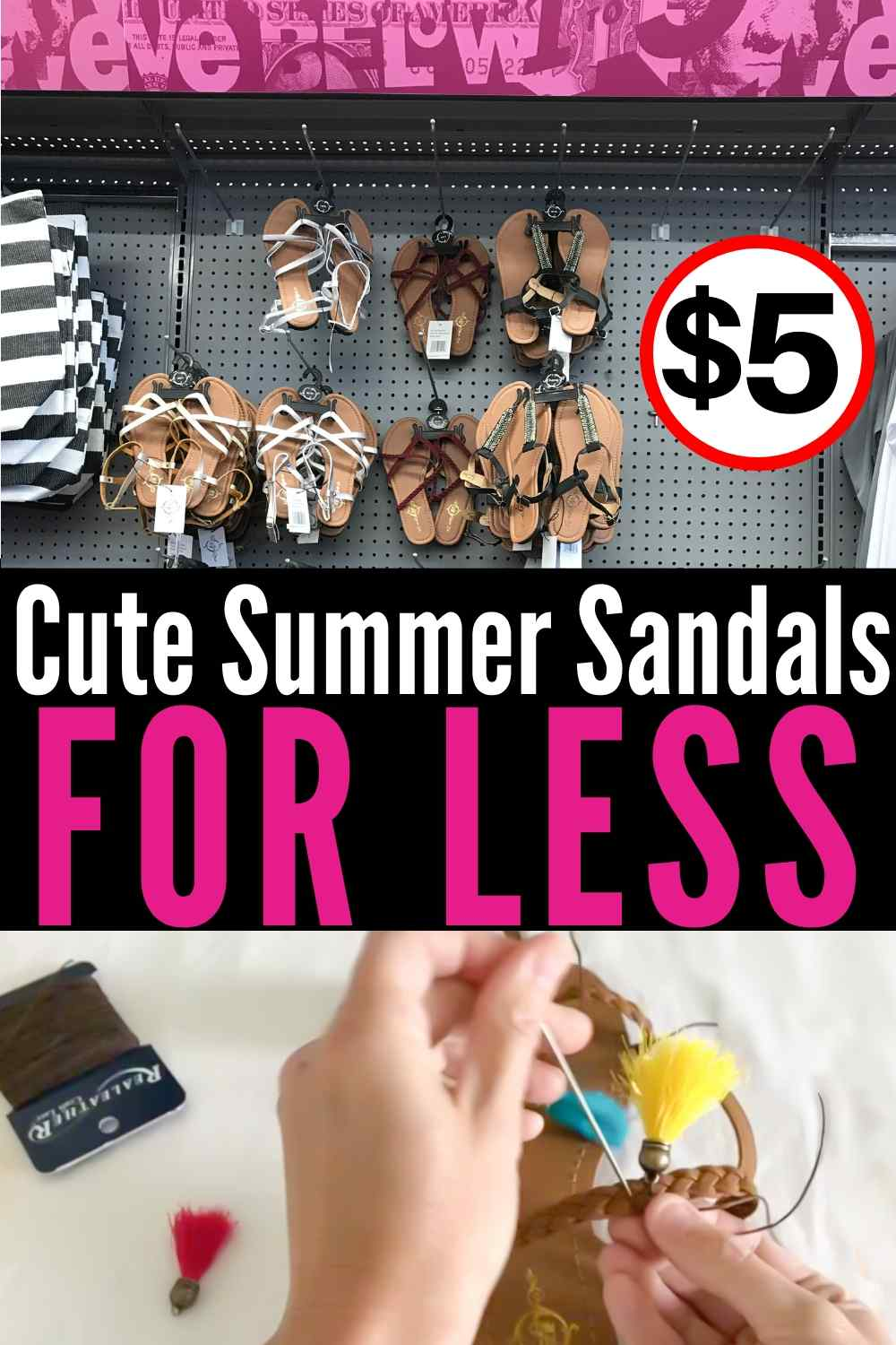 Cute Summer Sandals For Less!