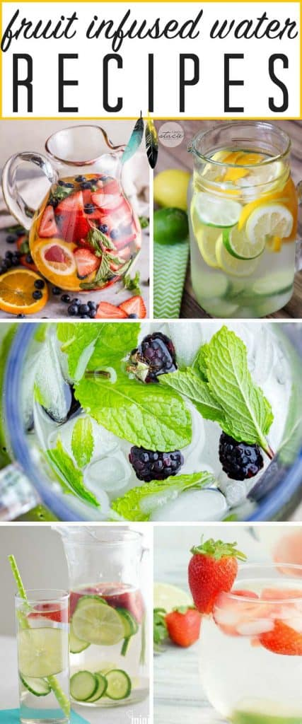 WONDERFUL, healthy fruit infused water recipes for flat or sparkling water! GREAT FOR SUMMER!