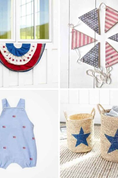 A collection of classic red, white and blue items for your home and wardrobe!