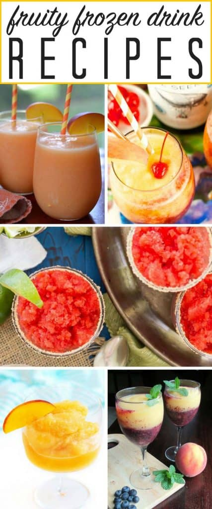 These are the most popular frozen drink recipes around! LOVE frozen alcoholic drinks in the summer!! Save for the next cookout!!