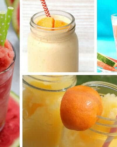 PERFECT for summer!!! Frozen drink recipes (virgin   non alcoholic) for the whole family to enjoy! Make your slushies at home this season. Kids LOVE making these popular & fun fruity drinks!