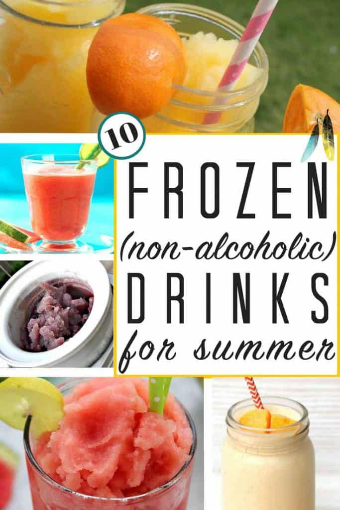 10 non alcoholic frozen drinks for summer the heathered nest for Fun alcoholic drink recipes