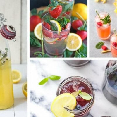 grid with examples of several homemade lemonade recipes