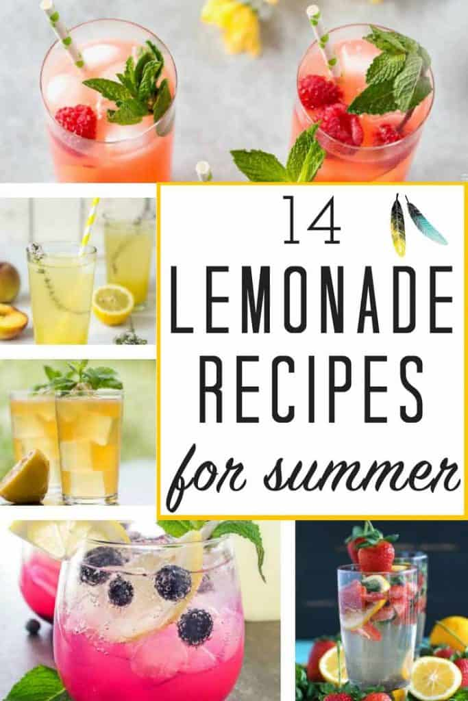 14 completely refreshing, not to mention gorgeous FRESH LEMONADE RECIPES just in time for summer!!! Loving these popular summer drinks like strawberry lemonade as well as some of the more unique varieties! There's a homemade lemonade recipe for everyone RIGHT HERE!!