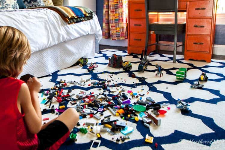 GENIUS!!! Check out this DIY tool for picking up Legos!! No more foot pain from stepping on those little Lego pieces!! The kids may actually want to help pick up Legos now!!