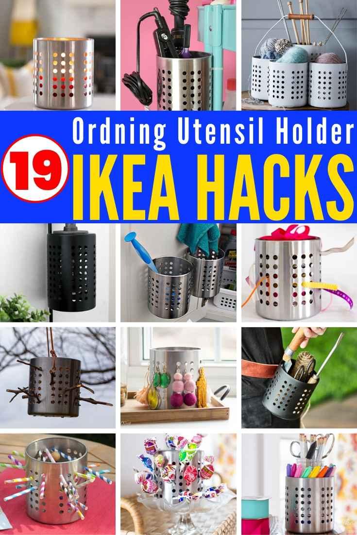 19 IKEA ORDNING HACKS! Useful & Creative IKEA hacks using a $3 Ordning Utensil Holder!