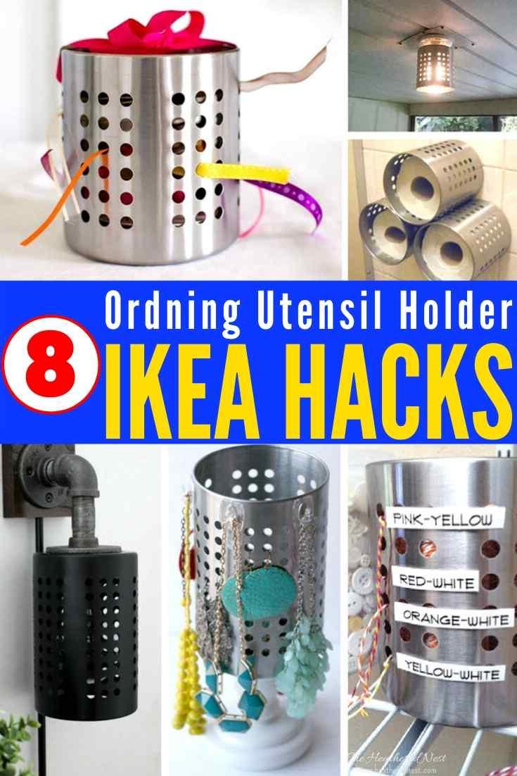 15 Useful IKEA hacks using a $3 IKEA Ordning Utensil Holder