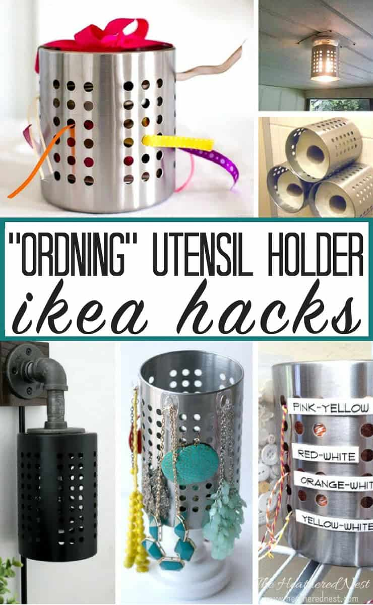 Popular Ordning Ikea hacks! It's not just a utensil holder! This inexpensive Ikea item can be used for so much more! GREAT ideas!!