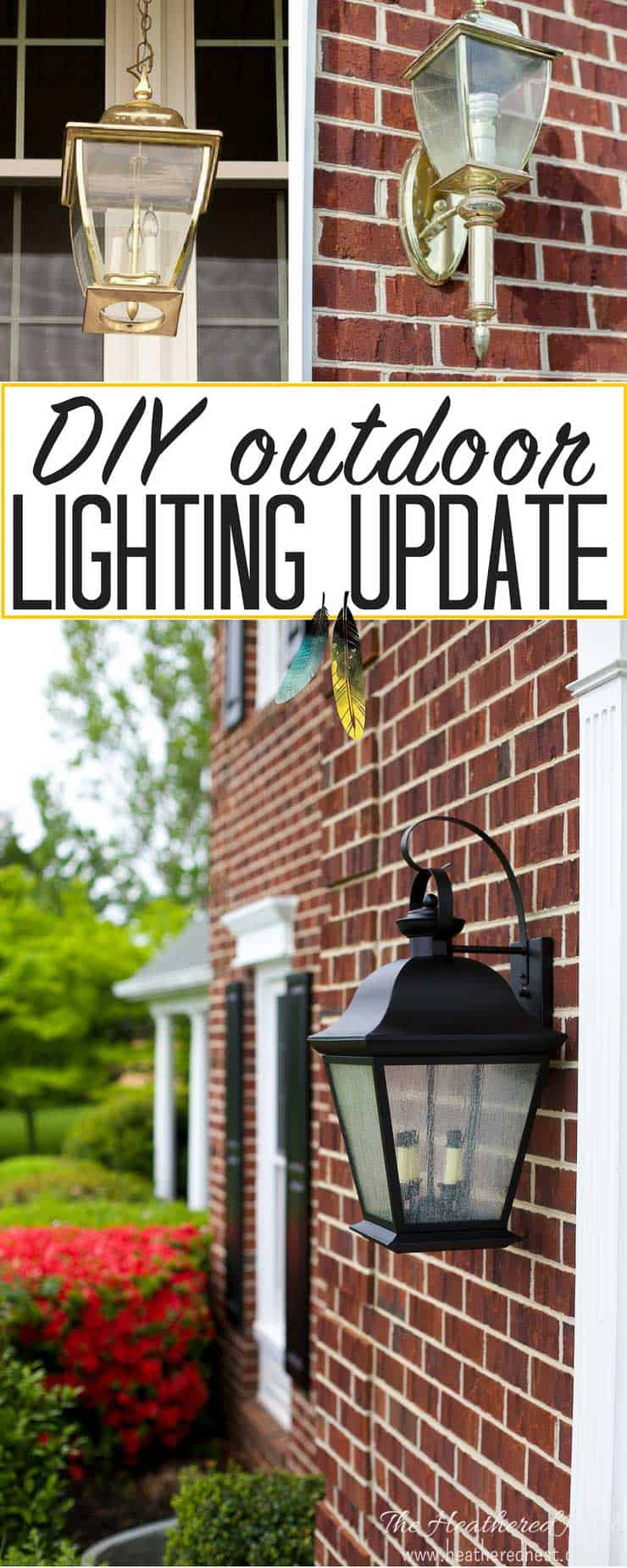 Gorgeous outdoor lighting DIY update!!