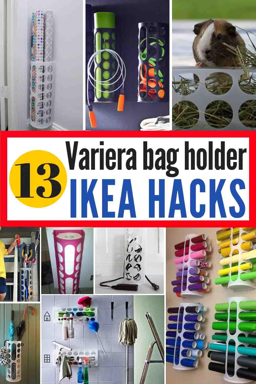13 IKEA Variera bag holder hacks