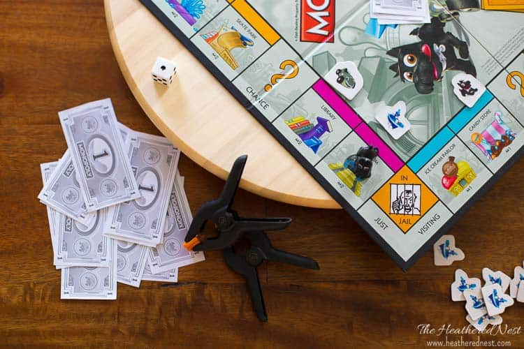 "GENIUS Ikea hack!! Make this rotating game table for family game night from a ""Snudda"" Ikea lazy susan turntable. Will take less than one-minute to finish! My family needs this one NOW!!"