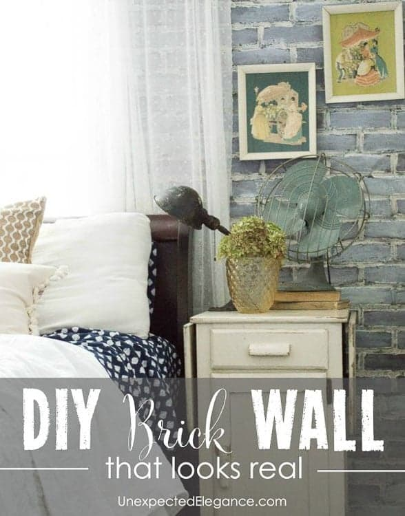 use faux brick panels for the brick wall look on a budget
