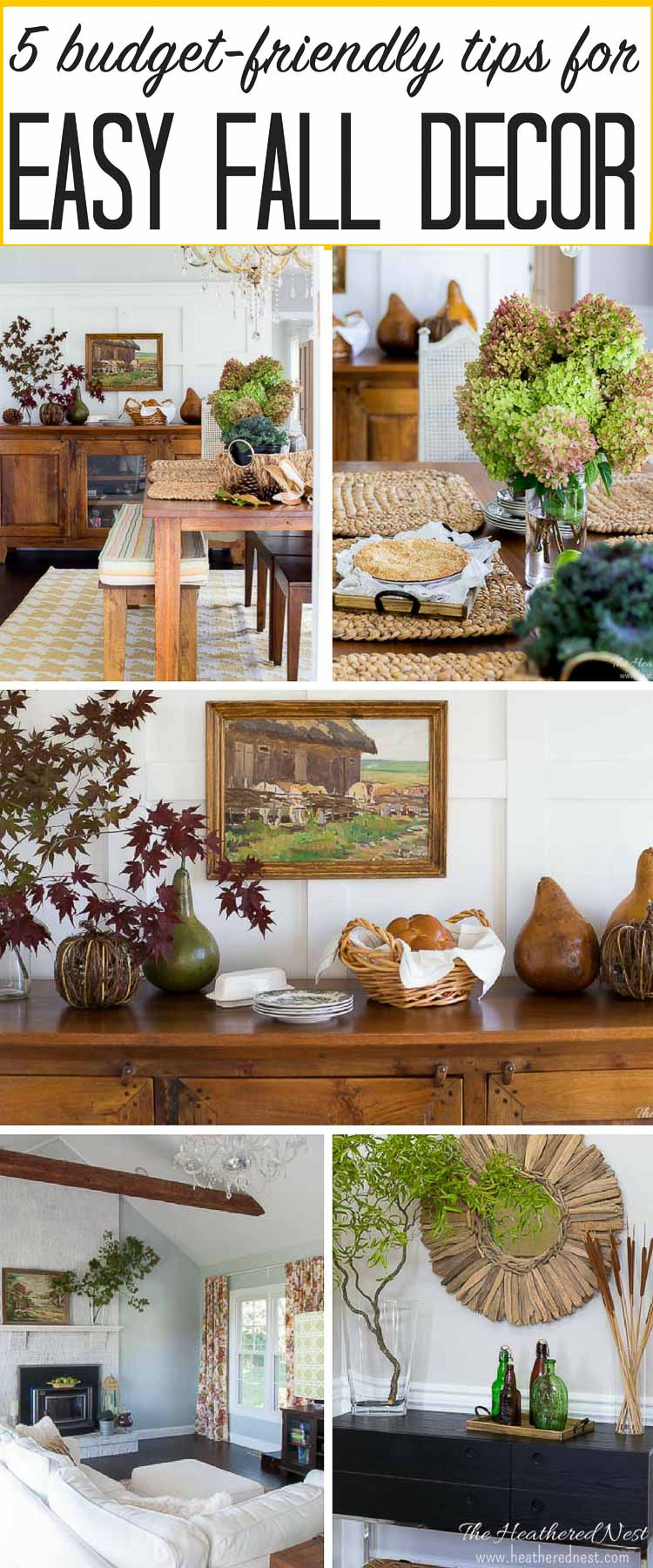 Don't stress about fall decor! It doesn't need to be hard. Decorate for autumn beautifully and on a budget with these 5 simple tips fall home decorating ideas. #falldecor #fallhomedecor #decoratingforfall #easyfalldecorideas #falldecoratingideas #easyfalldecorating #homedecorforfall #simplefallhomedecor #homedecor #seasonalhomedecor