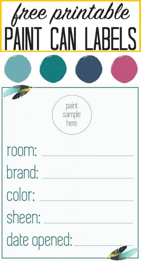 FREE PRINTABLE paint can labels! Great for organizing! from popular DIY blog heatherednest.com