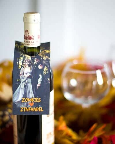 Spooky fun free #printables for #halloween ! Print some of #wine #gift tags out and treat the adults on Halloween night, too!