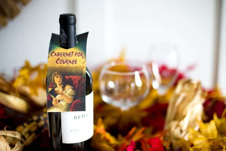 Cabernet for Courage Halloween Wine Tag