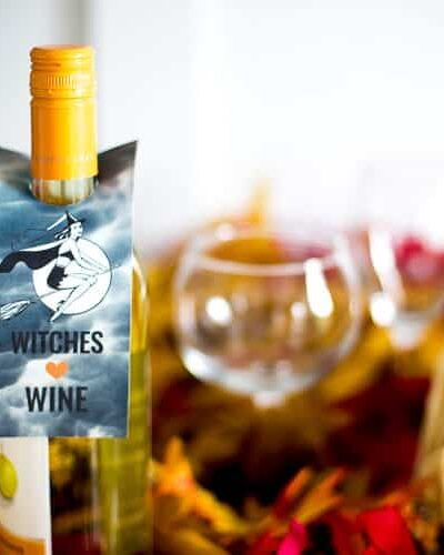 because we witches love wine free printable wine labels for halloween from heatherednest.com