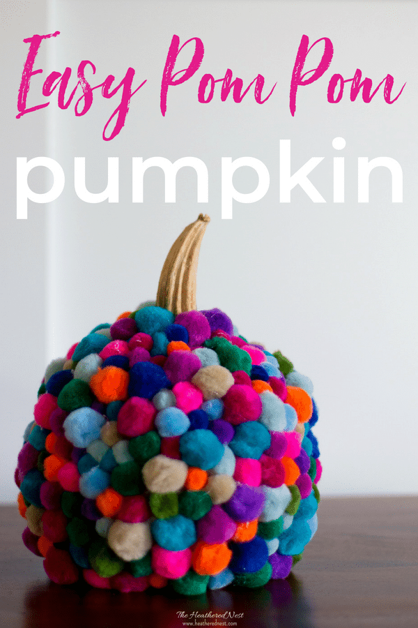 This is the CUTEST pumpkin craft I've seen!! LOVE this DIY pom pom craft for fall! Pom poms are so popular right now! Trying this easy DIY pumpkin project this fall for sure!! #pompompumpkin #pompomcraftideas #nocarvepumpkinideas #funkinideas #pompomfunkin #pompomcrafts