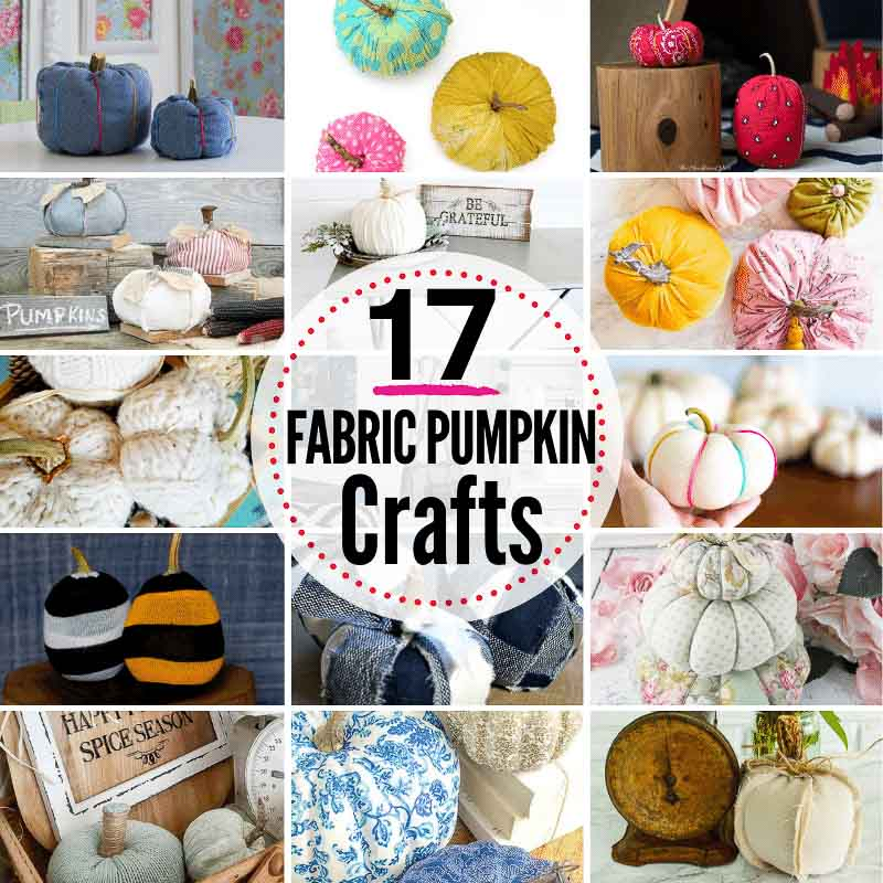 17 best DIY fabric pumpkin crafts