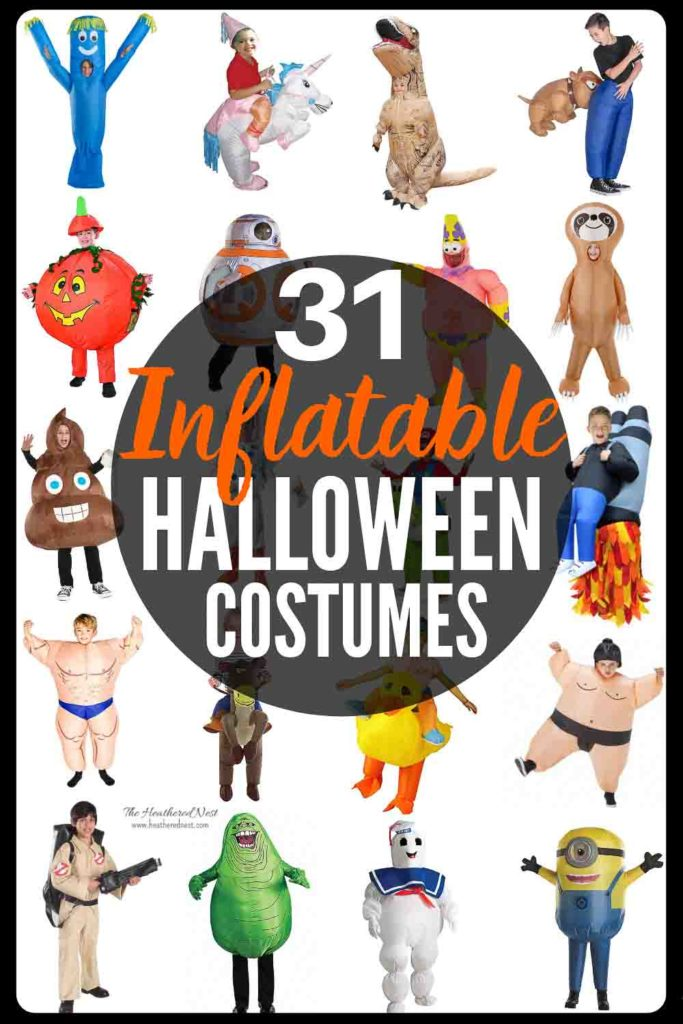 These popular inflatable Halloween costumes for kids are EPIC!! And NONE are over $50!! These are the coolest costumes we've seen in a while!